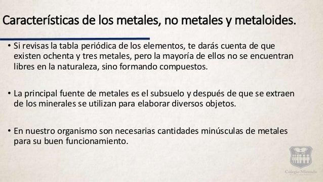 Caracteristicas metales metaloides y no metales urtaz Images