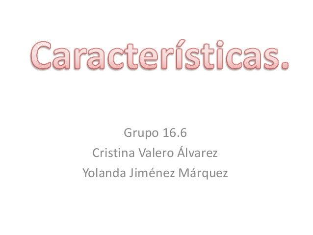Grupo 16.6 Cristina Valero Álvarez Yolanda Jiménez Márquez