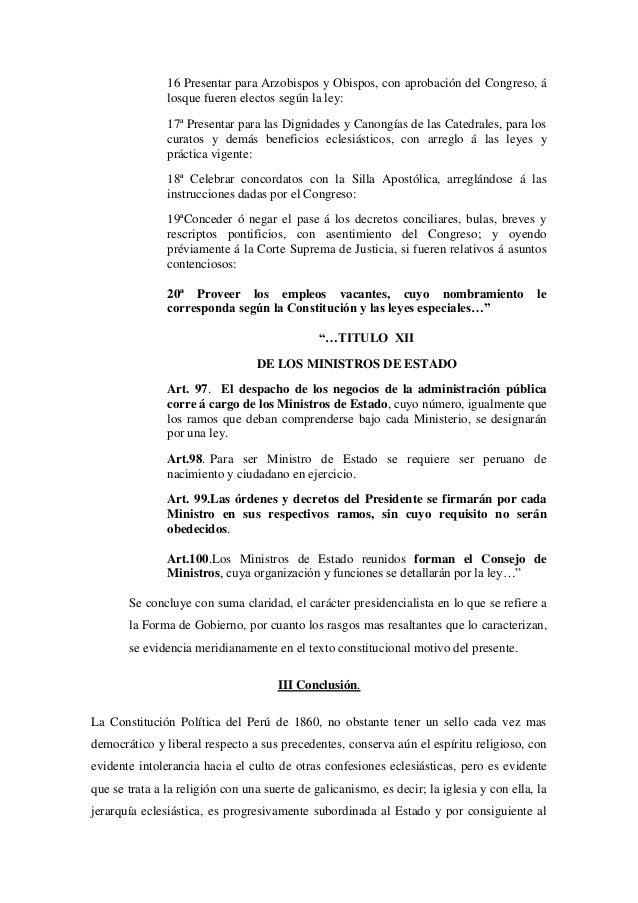 16 Presentar para Arzobispos y Obispos, con aprobación del Congreso, álosque fueren electos según la ley:17ª Presentar par...