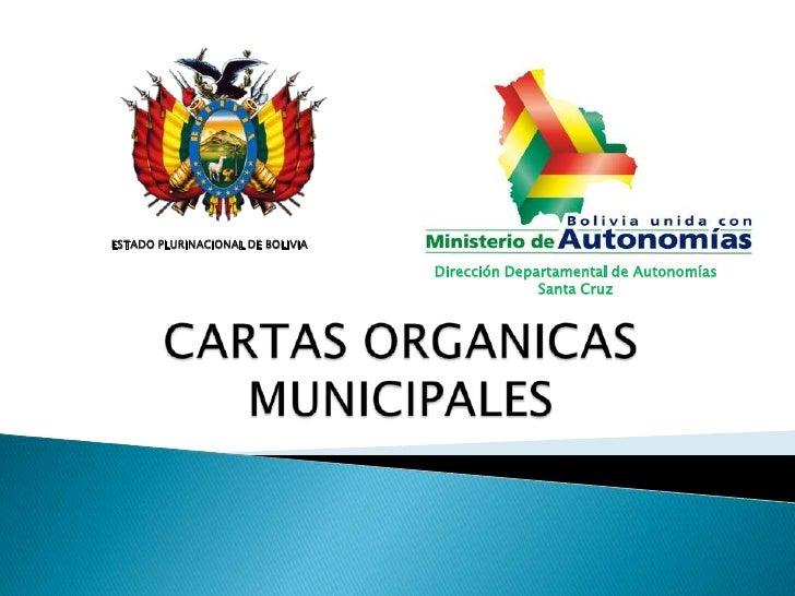 ESTADO PLURINACIONAL DE BOLIVIA<br />ESTADO PLURINACIONAL DE BOLIVIA<br />Dirección Departamental de Autonomías<br />Santa...