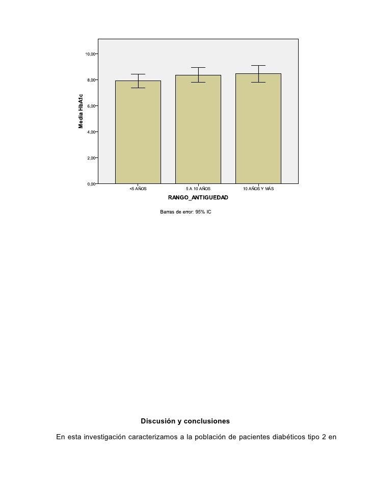 Caracterización de pacientes diabéticos tipo 2 en control