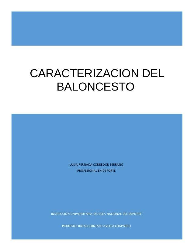 LUISA FERNADA CORREDOR SERRANO PROFESIONAL EN DEPORTE INSTITUCION UNIVERSITARIA ESCUELA NACIONAL DEL DEPORTE PROFESOR RAFA...