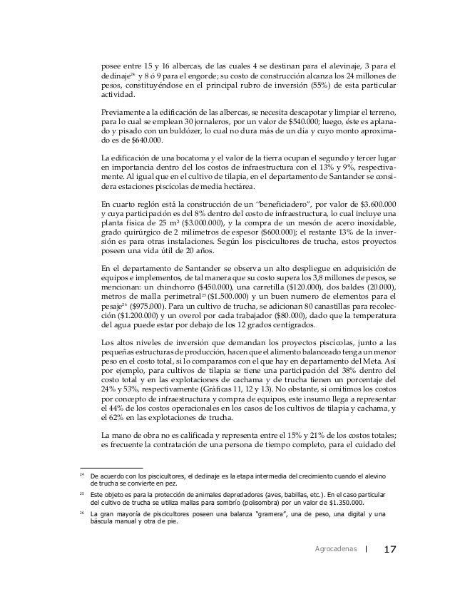 Caracterizacion piscicultura for Manual de piscicultura tilapia