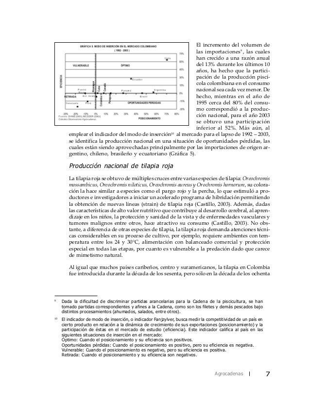 Caracterizacion piscicultura for Piscicultura tilapia roja