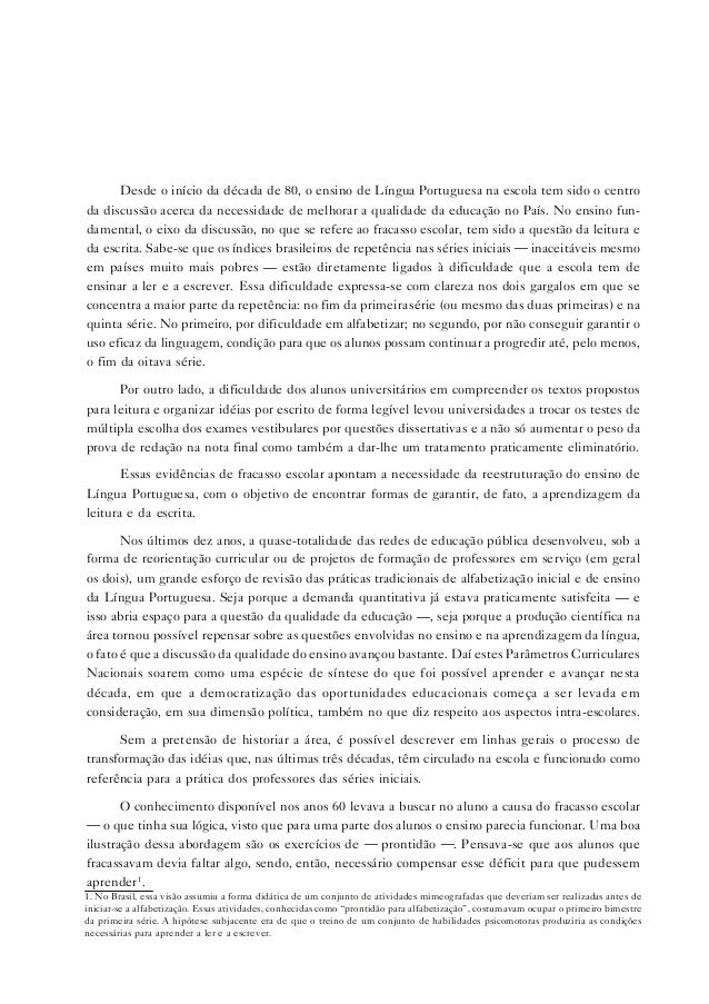 19 CARACTERIZAÇÃO DA ÁREA DE LÍNGUA PORTUGUESA Introdução Desde o início da década de 80, o ensino de Língua Portuguesa na...