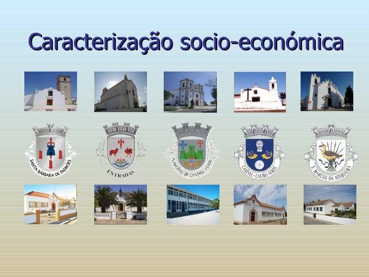 Caracterização socio-económica