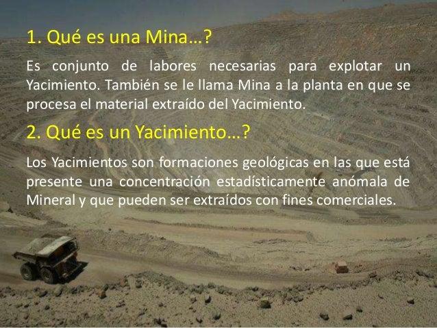 Caracteristicas Basicas Del Proceso Productivo Minero