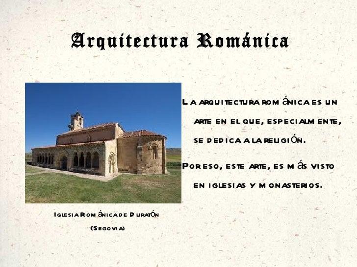 Caracter sticas de arquitectura rom nica y g tica manuel - Vano arquitectura ...