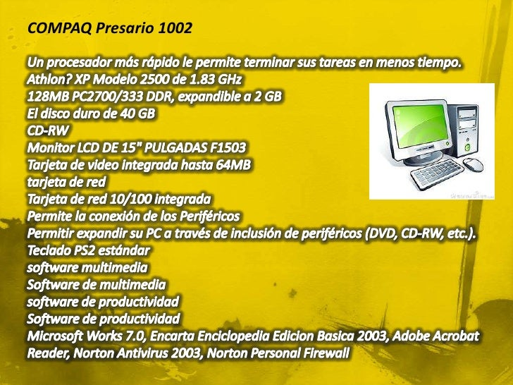 Computadora de escritorio compaq related keywords for Escritorio para computadora