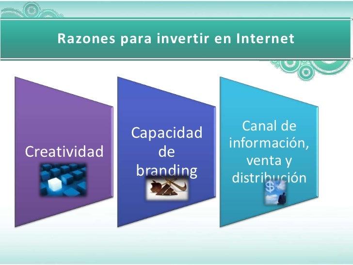 Razones para invertir en Internet              Capacidad       Canal de                           información,Creatividad ...