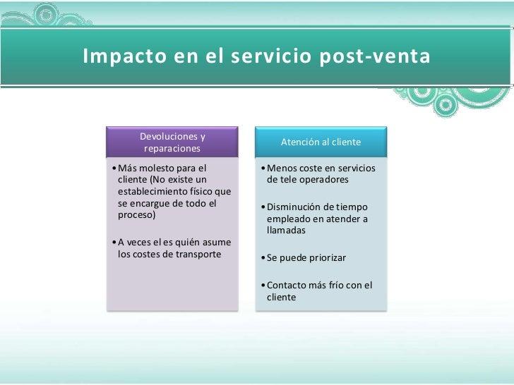 Impacto en el servicio post-venta        Devoluciones y                                     Atención al cliente         re...