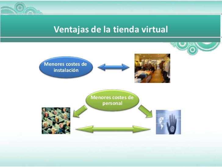 Para diapositivas mas complicada       Ventajas de la tienda virtual    Menores costes de       instalación               ...