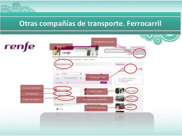 Otras compañías de transporte. Ferrocarril                                           Asistente virtual                    ...