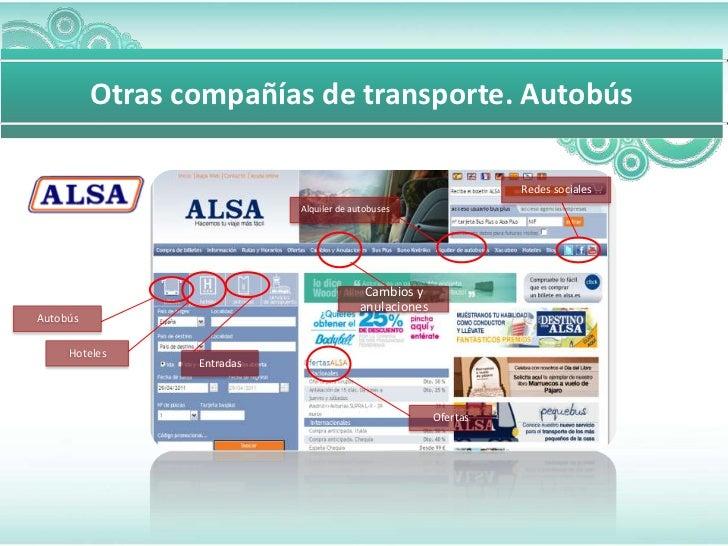 Otras compañías de transporte. Autobús                                                                 Redes sociales     ...