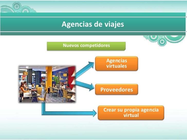 Agencias de viajesNuevos competidores                 Agencias                 virtuales               Proveedores        ...