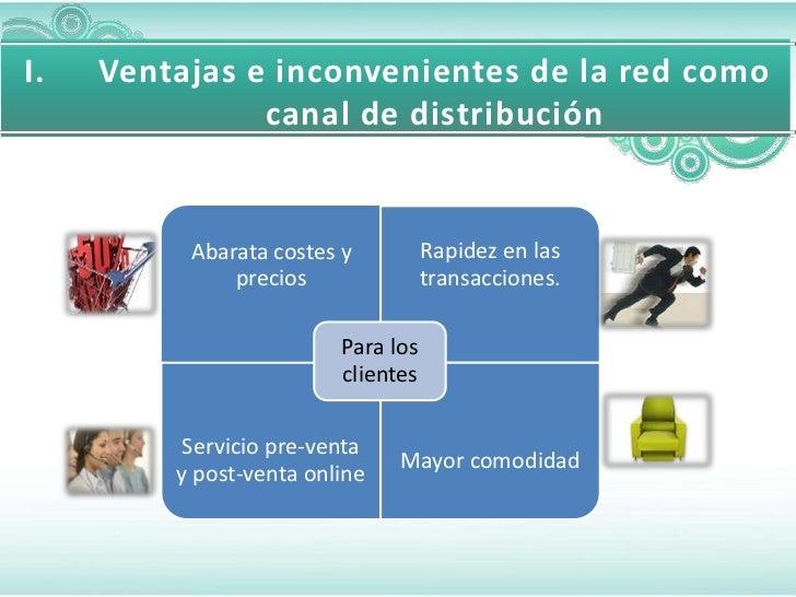 I.   Ventajas e inconvenientes de la red como               canal de distribución          Abarata costes y          Rapid...