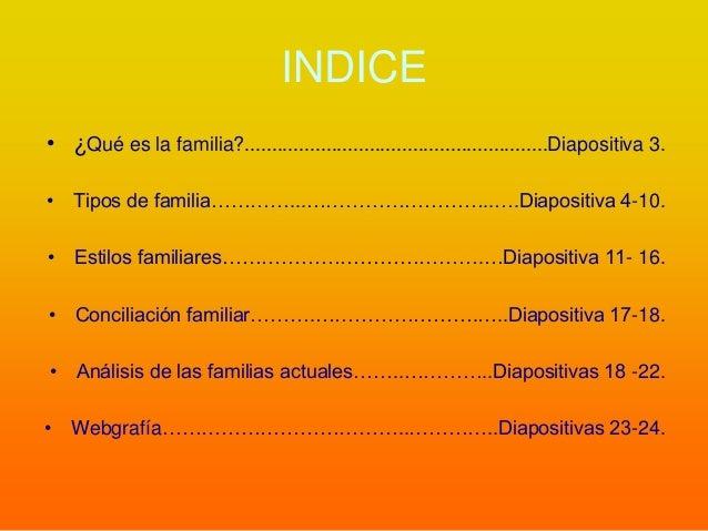 Características de la familia Slide 2