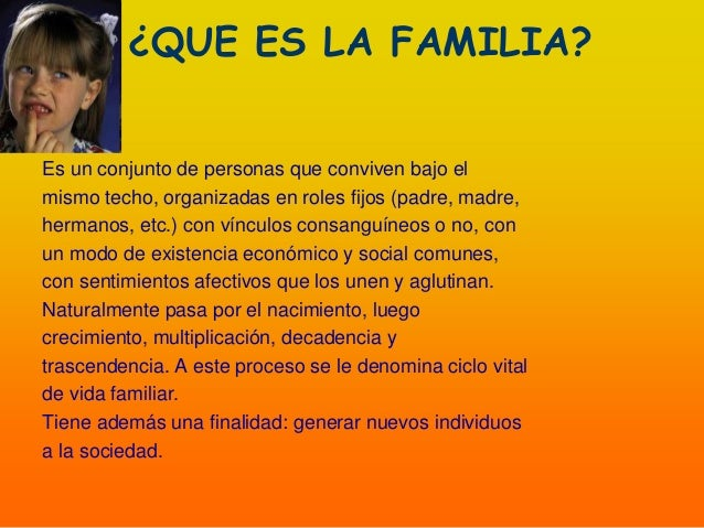 Características de la familia Slide 3