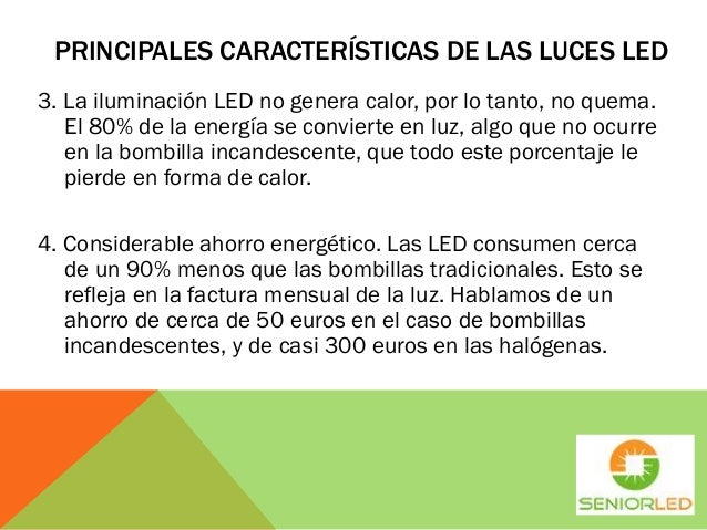 Caracter sticas de las luces led - Caracteristicas bombillas led ...