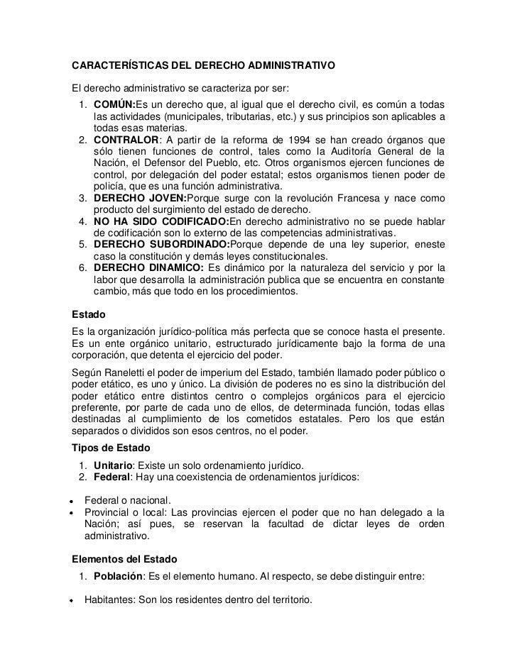 CARACTERÍSTICAS DEL DERECHO ADMINISTRATIVOEl derecho administrativo se caracteriza por ser: 1. COMÚN:Es un derecho que, al...