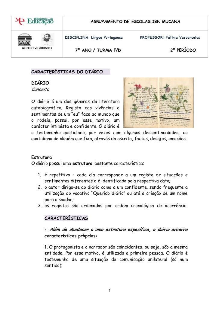 AGRUPAMENTO DE ESCOLAS IBN MUCANA                        DISCIPLINA: Língua Portuguesa        PROFESSOR: Fátima Vasconcelo...