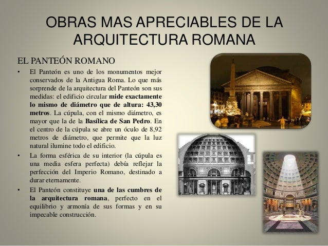 caracter sticas m s importantes de la arquitectura romana On lo mas importante de la arquitectura