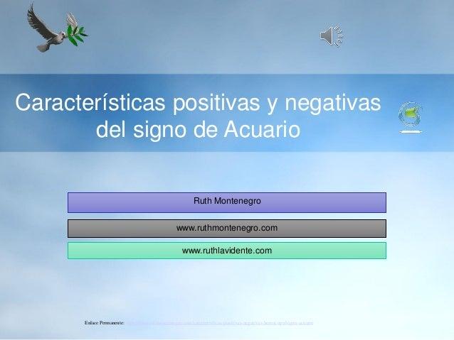 Caracter sticas positivas y negativas del signo de acuario for Horoscopo para acuario