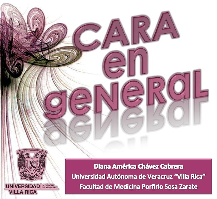 """CARA<br />en<br />geNeRaL<br />Diana América Chávez Cabrera<br />Universidad Autónoma de Veracruz """"Villa Rica""""<br />Facult..."""