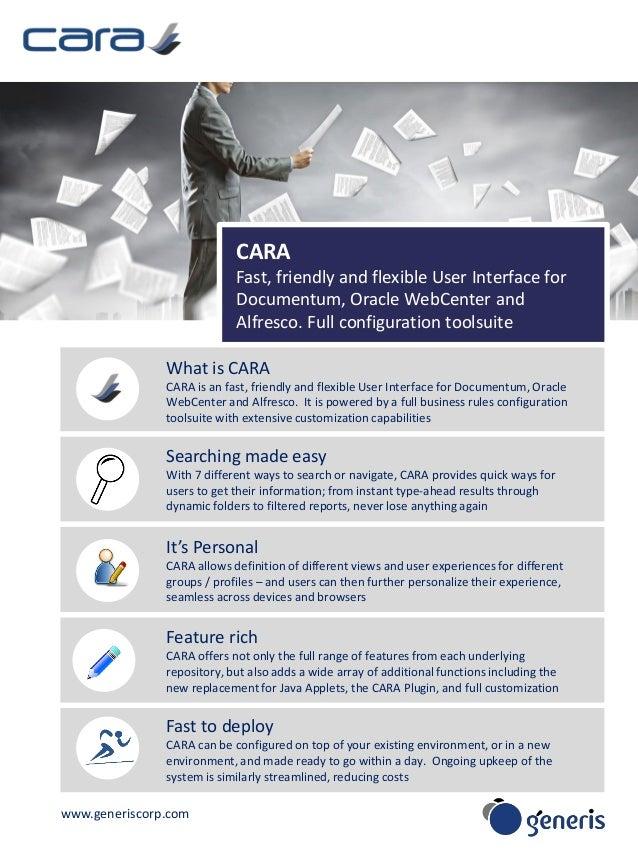CARA for Documentum, Alfresco, Oracle WebCenter