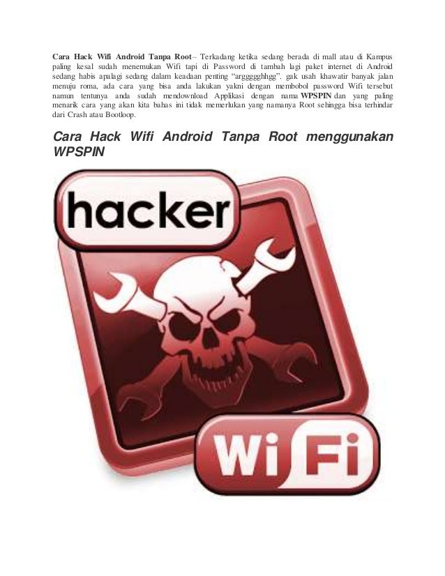 Cara Hack Wifi Android Tanpa Root
