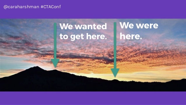 @caraharshman #CTAConf We were here. We wanted to get here.