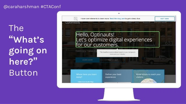 """@caraharshman #CTAConf The """"What's going on here?"""" Button"""