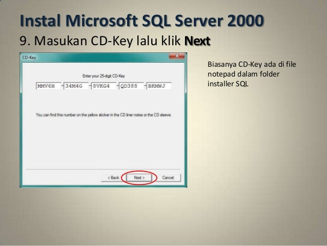 Cara Instal Sql Server 2000 Di Windows 7 64 Bit