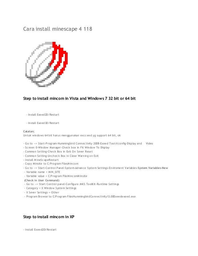 Cara install minescape 4 118