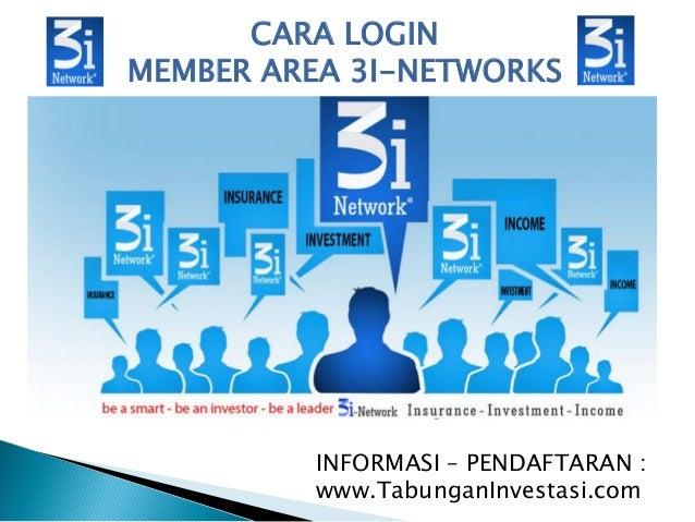 CARA LOGIN MEMBER AREA 3I-NETWORKS INFORMASI – PENDAFTARAN : www.TabunganInvestasi.com