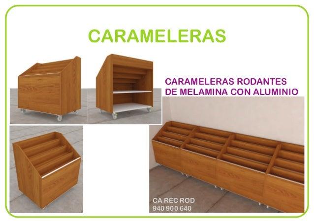 CARAMELERAS RODANTES DE MELAMINA CON ALUMINIO CA REC ROD 940 900 640 CARAMELERAS