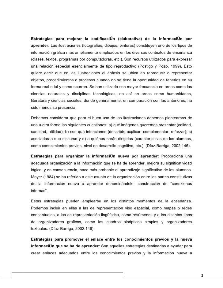 Estrategias para mejorar la codificación (elaborativa) de la información poraprender: Las ilustraciones (fotografías, dibu...