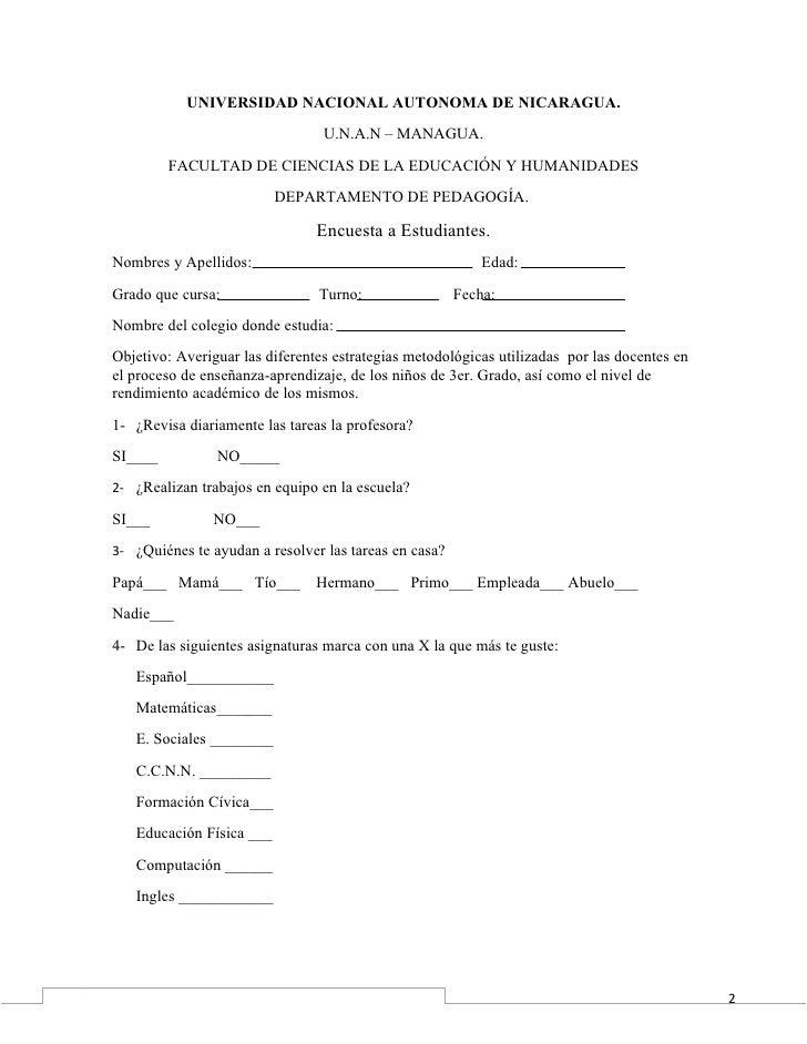 UNIVERSIDAD NACIONAL AUTONOMA DE NICARAGUA.                                 U.N.A.N – MANAGUA.         FACULTAD DE CIENCIA...