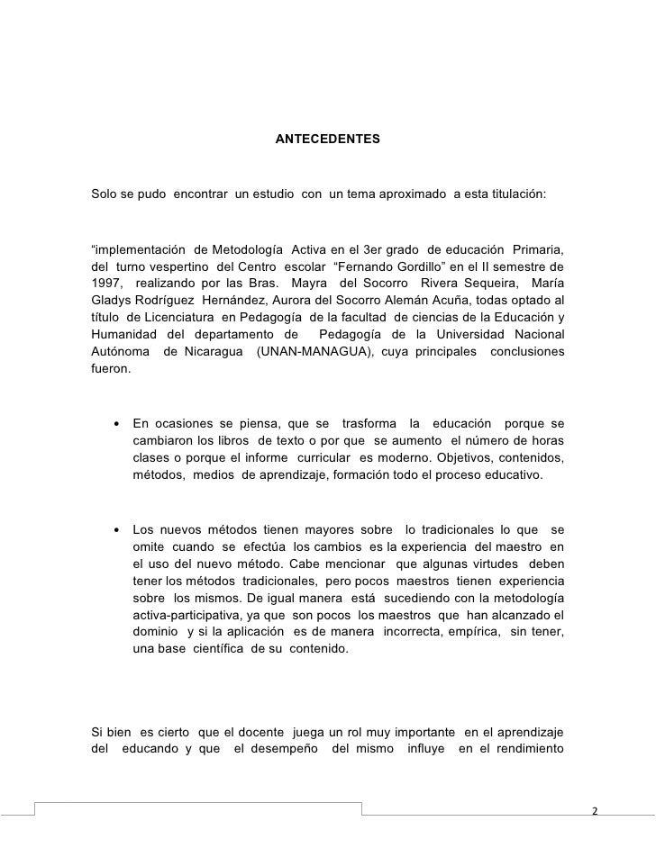 """ANTECEDENTESSolo se pudo encontrar un estudio con un tema aproximado a esta titulación:""""implementación de Metodología Acti..."""