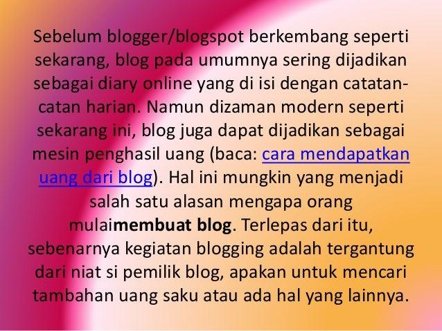 Cara Membuat Blog Penghasil Uang