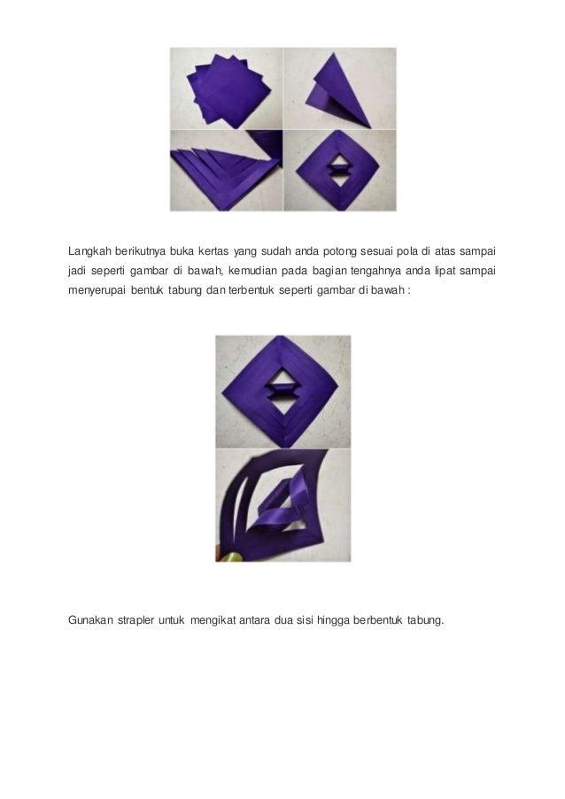 Cara Membuat Bunga Kertas 3 Dimensi