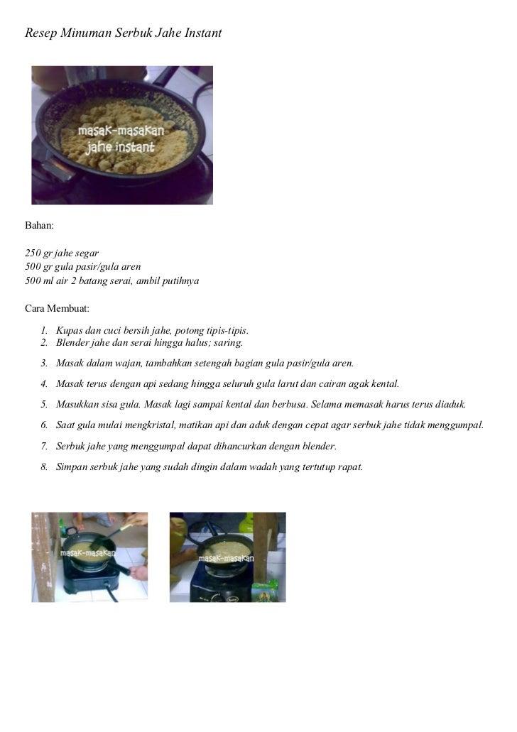 Resep Cara Membuat Jamu Jahe Dengan Langkah Mudah