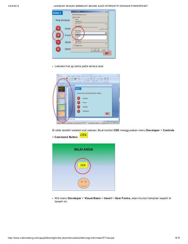 Cara Membuat Powerpoint Pembelajaran Disertai Macros
