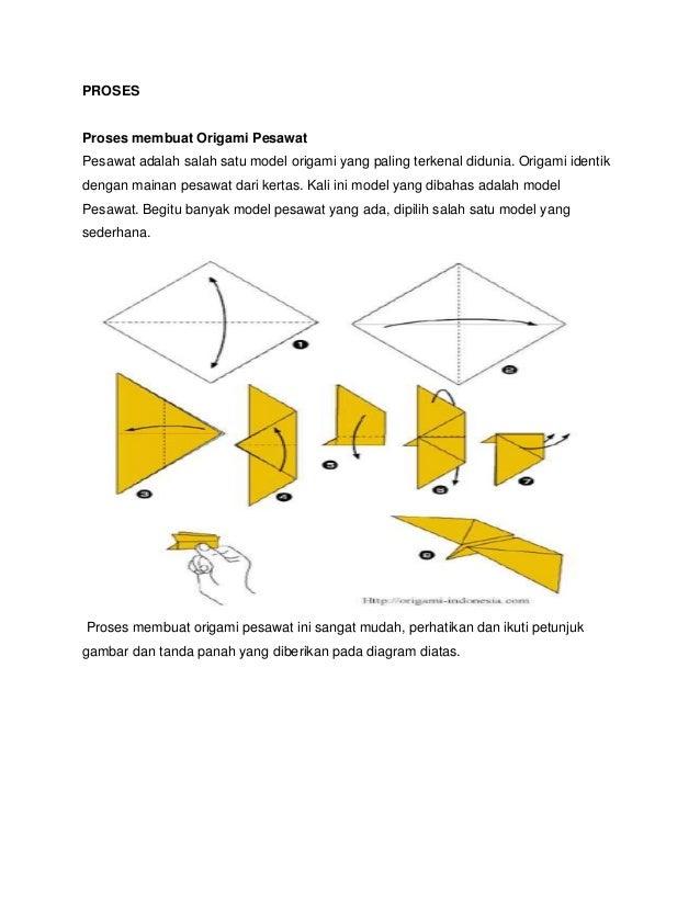 Cara Membuat Pesawat Kertas Yang Bisa Terbang Super Jauh: Cara Membuat Origami