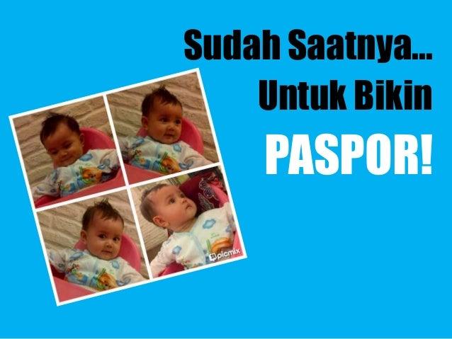 Cara Membuat Paspor Bayi