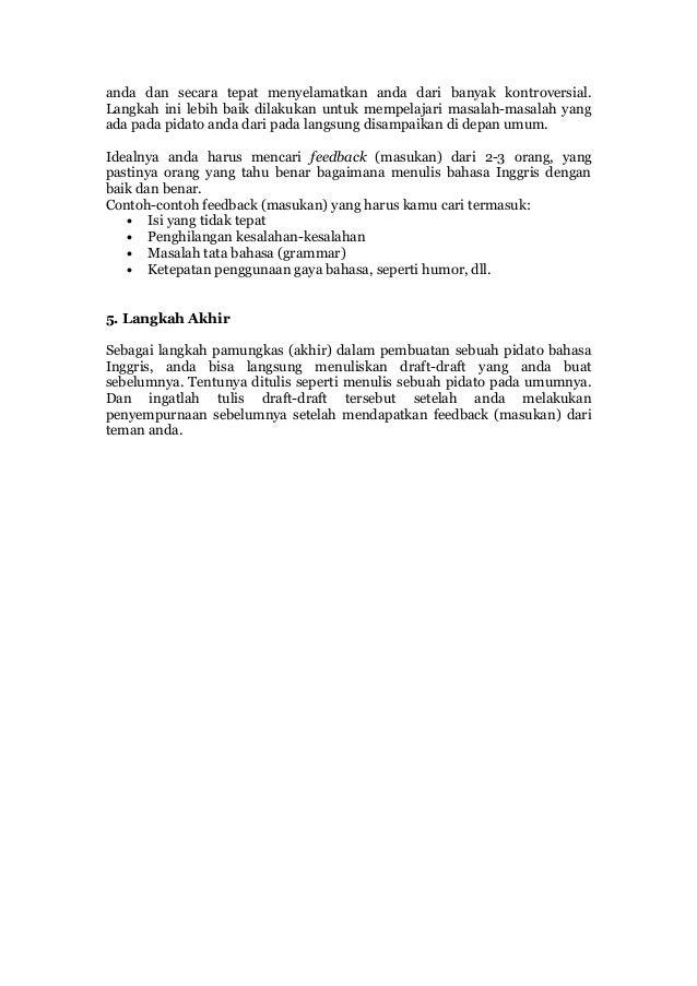 Informasi Dari Bacaan Bahasa Daerah Di Indonesia Terancam Punah Contoh Pembukaan Pidato Bahasa Inggris