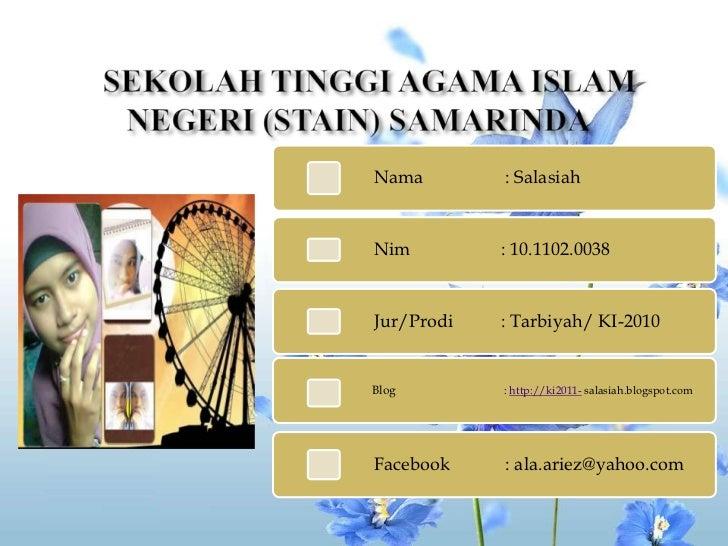 SEKOLAH TINGGI AGAMA ISLAM NEGERI (STAIN) SAMARINDA <br />