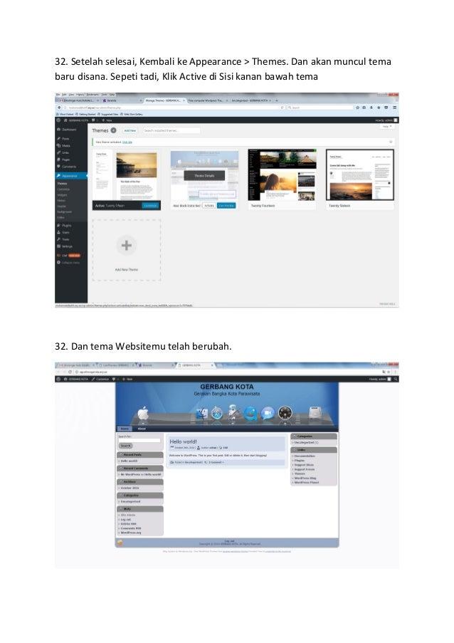cara membuat website blog belajar wordpress