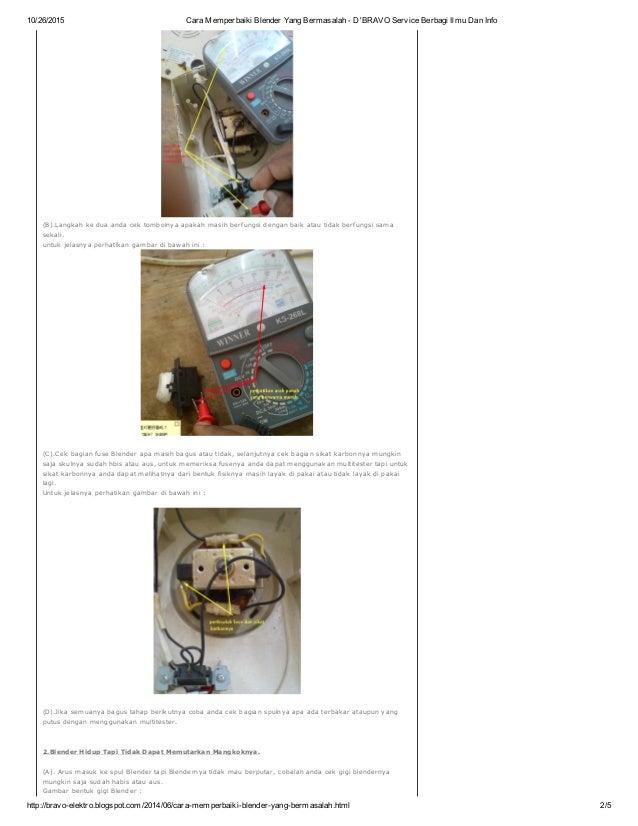 Cara Memperbaiki Blender Yang Bermasalah D Bravo Service Berbagi Il