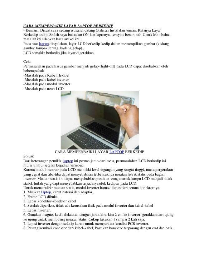 Cara memperbaiki layar laptop berkedip